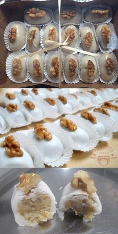 Camafeu De Nozes #camafeu #docinho #receita #culinária #gastronomia #pilotandofogão Sweet Recipes, Cake Recipes, Dessert Recipes, Delicious Desserts, Yummy Food, Holiday Cakes, Keto Cookies, Fondant, Food And Drink