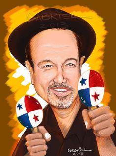 RUBÉN BLADES Funny Caricatures, Celebrity Caricatures, Salsa Musica, Latino Americano, Willie Colon, Salsa Bachata, Black History Facts, Salsa Dancing, Jazz Musicians