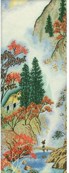 Oriental Mountain Bridge - Cross Stitch Kit
