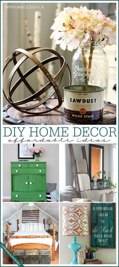 Feeling crafty? Check out these affordable and inspiring DIY home decor projects to try this weekend!