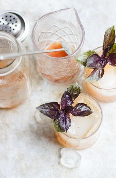 Basil Fig Vodka Smash | @withfoodandlove