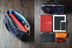 Custom Handmade Italian Vegetable Tanned Leather Tote Bag, Messenger Bag, Lady Bag