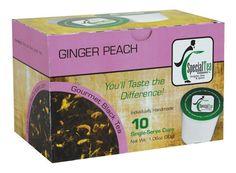 Ginger Peach Black Tea Single Serve Pod Pack by SpecialTeaCompany