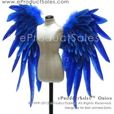 eProducSales Royal Blue ORION BJD Wings for Ball-Jointed #Dolls
