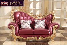 Elegant and nice design for classic red sofa furniture 0409