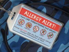 Back to school Alert My Allergy Back Pack Tags Tree Nut Allergy, Egg Allergy, Peanut Allergy, Allergy Free, Cashew Allergy, Kids Allergies, Tree Nuts, Nut Free, Safe Food