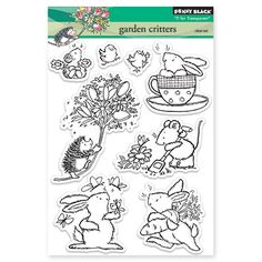 Garden Critters. The hedgehog is so adorable. Black, Inc.