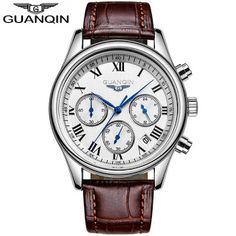 GUANQIN Fashion Mens Watches Chronograph & 24 Hours Function Men Business Water Resistant Quartz Wristwatches Relogio Masculino (32758815174)  SEE MORE  #SuperDeals