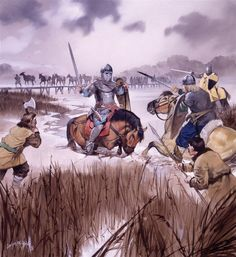 Lake Peipus 1242 - The death of Domash Tverdislavich at the battle of Mooste bridge, some days before the final battle on Lake Peipus. Osprey Publishing