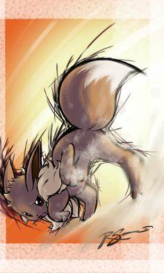 Eevee's Sand Attack by JA-punkster on deviantART