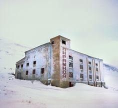 Pyramiden by Rueben Wu. Russian ghost town at 79° N, abandoned in the 1990s.