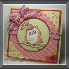 One cute 'spotted owl' :) Birthday Whoot card by Renee Matarese