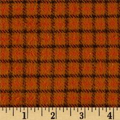 Primo Flannel Harvest Window Pane Plaid Multi from @fabricdotcom  From Marcus Brothers, this double-napped, Medium-weight (7.25oz) yarn dyed flannel is perfect for quilting, apparel and home decor accents.  Colors include orange and brown.