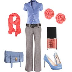 Pretty earrings and fun heels make this office-appropriate outfit age-appropriate too!