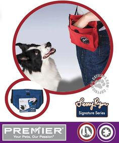 Manufactured By Premier Pet Products - The Treat Pouch has a water resistant lining, a strong hinge, two storage pockets, a ring attachment and is big enough to fit your entire hand inside Pet Products, Dog Training, Pouch, Treats, Dogs, Blue, Sweet Like Candy, Goodies, Dog Training School