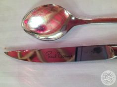Knife and spoon at L'Auberge du Pont de Collonges of Paul Bocuse in France