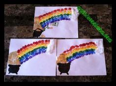 St. Patrick's Day craft. Make a thumbprint rainbow!