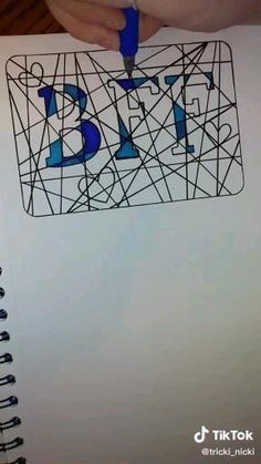 Bff Drawings, Art Drawings Sketches Simple, Pencil Art Drawings, Doodle Drawings, Easy Drawings, 3d Art Drawing, Doodle Art Designs, Diy Canvas Art, Art Lessons