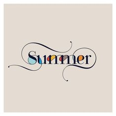 """Summer"" hand lettering by Summer Typography, Typography Quotes, Typography Inspiration, Graphic Design Inspiration, Calligraphy Letters, Typography Letters, Typography Design, Logo Design, Design Art"
