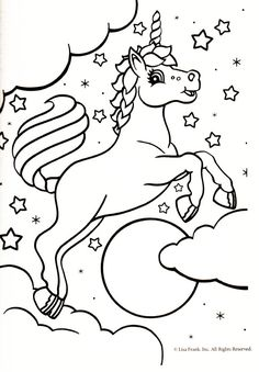 "Unicorn coloring page - Makaila loves ""ponycorns""."