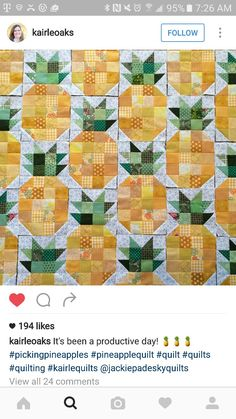 Cute pineapple quilt blocks
