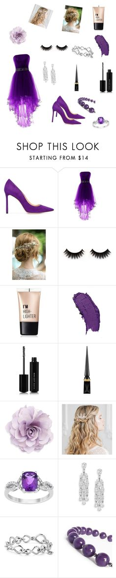 """""""red carpet look"""" by cheeralf ❤ liked on Polyvore featuring Jimmy Choo, Charlotte Russe, Marc Jacobs, Christian Louboutin, Cara, Adriana Orsini and David Yurman"""