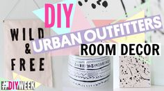 DIY Urban Outfitters Room Decor!! - #DIYWEEK Tumblr Room Decor, Tumblr Rooms, Diy Room Decor, Room Decorations, Urban Outfitters Room, Urban Rooms, Bedroom Crafts, Diy School Supplies, Diy Crafts Videos