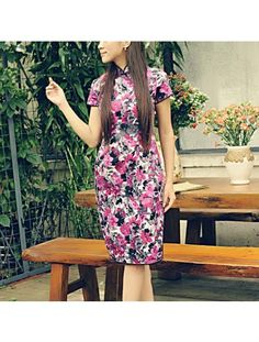 #203647 #AnnularRings #Qipao #Cheongsam -  Floral Rose Red Dress in Chinese Ink Pattern Like Painting - cheongsam girl,  red cheongsam,  girls cheongsam,  cheongsam girls,  long cheongsam,  cheongsam tailor,  chinese cheongsam dresses,  chinese dresses cheongsam,