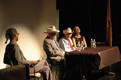 "Panel Discussion    The Dust Bowl, a film by Ken Burns Screening 11/2/12.  African American Performing Arts Center, Albuquerque, NM.  Panel Discussion with co-producer Julie Dunfey, Dust Bowl Survivors Robert ""Boots"" McCoy & Sam Arguello with host Gene Grant. http://www.newmexicopbs.org/"