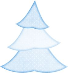BLUE CHRISTMAS TREE CLIP ART