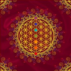 Chakra colours with the tree of life would be nice
