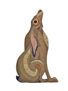 Index - Alison Hepburn Mosaics Jack Rabbit, Rabbit Art, Hare Illustration, Illustrations, Rabbit Sculpture, Mosaic Animals, Bunny Art, Beautiful Creatures, Textile Art