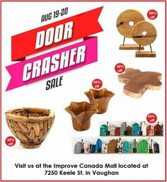 This weekend only, as part of the @ImproveCanada  Door Crasher Sales Event, take advantage of discounts upto 55% on select decor and accessory products.  Visit us at the Improve Canada Mall located at 7250 Keele St in Vaughan or shop online at zenporium.com.  #doorcrasher #saleonnow #getitwhileitlasts #decor #accessories #coatrack #planter #teakplanter #Zenporium #shoponline #guiltfreewood #ImproveCanada #Vaughan #Toronto #homeimprovement Off Sale, Teak, Mall, Toronto, Home Improvement, Canada, Events, Doors, Shop