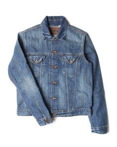 Buddy Jacket - Compact Indigo Denim, 11.5oz – Blue – Mid Used