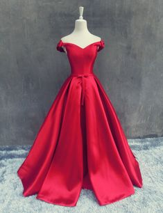 Decent Off Shoulder Long Pleated Red Prom Dress Lace up with Bowknots
