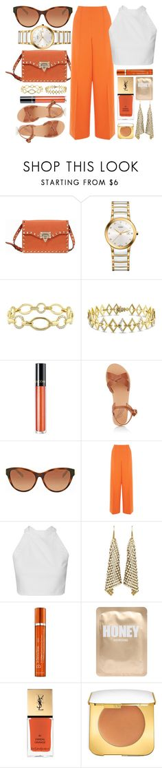 """Just Like This"" by jomashop ❤ liked on Polyvore featuring Valentino, Rado, Versace 19•69, Lancôme, Ancient Greek Sandals, Michael Kors, Warehouse, Dr. Dennis Gross Skincare, Lapcos and Yves Saint Laurent"