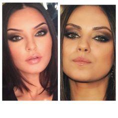 Mila Kunis Makeup Tutorial Bronze Brown Smokey Eyes (+playlist)