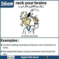 racking my brain idiom