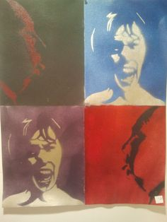 Hitchcock/Scream by PaintingsThatPop on Etsy, $25.00