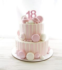 Chocolate and pear crumble cake - HQ Recipes 14th Birthday Cakes, Sweet 16 Birthday Cake, Birthday Cakes For Teens, Homemade Birthday Cakes, 21st Birthday, Bolo Drip Cake, Drip Cakes, Macaron Cake, Cupcake Cakes