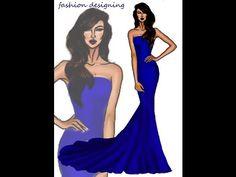 Tasarım çizimleri / Klasik balık elbise tasarımı fashion illustration,fashion design#fashionillustration #fashiondesign