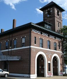 Vintage Brick Fire House with hose drying tower....