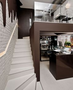 Chocolate Bar - Chocolate appears to be dripping down the walls at this cafe in Opole, Poland, by interior designers Bro.Kat.