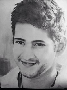 Mahesh Babu by onestrokepaint on DeviantArt Drawing Cartoon Faces, Girl Face Drawing, Most Handsome Actors, Handsome Celebrities, Film Images, Actors Images, Cool Art Drawings, Pencil Art Drawings, Drawing Ideas