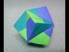 Origami stellated octahedron (sonobe) - YouTube