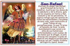 ORACIONES MILAGROSAS: Oración a San RAFAEL ARCANGEL para pedirle ayuda y...