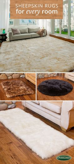 Genuine Australian sheepskin rugs add comfort and luxury to any room.