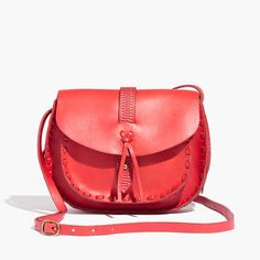"""Artfully embossed leather and hand-stitched details give this timeless crossbody a true '70s feel, with roomy pockets on the front and back. Say hello to the take-it-everywhere bag that can handle all of your essentials. <ul><li>Made of beautifully smooth and durable vegetable-tanned leather from Italy.</li><li>Please note: As it is made of a natural material, each bag varies slightly in texture and color.</li><li>Flap magnetic closure.</li><li>Interior pocket.</li><li>21 3/5"""" shoulder…"""