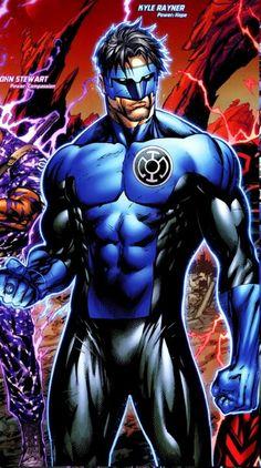 "the-key-to-hope: "" Blue Lantern Kyle Rayner! Dc Comics Heroes, Dc Comics Characters, Dc Comics Art, Marvel Dc Comics, Comic Book Heroes, Comic Books Art, Comic Art, Blue Lantern Corps, Green Lantern Kyle Rayner"