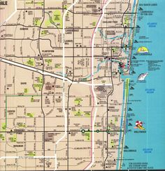 Map of Ft. Lauderdale, Florida